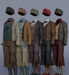 dForce Deck Hand Outfit Textures 74647