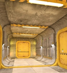 Sci-fi Containment Station Floor 82526